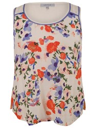 Chesca Small Floral Print Camisole Top Cream