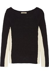 Halston Two Tone Wool Blend Sweater