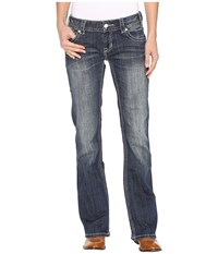 Rock And Roll Cowgirl Low Rise Bootcut Jeans In Dark Vintage W0 9605 Dark Vintage Women's Jeans Navy