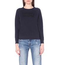 Levi's Classic Cotton Blend Sweatshirt Batwing Nightwatch Blue
