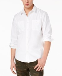 American Rag Men's Jason Workwear Shirt Created For Macy's Bright White