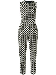 Andrea Marques Geometric Print Jumpsuit Black