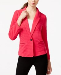 Kensie Long Sleeve Ribbed Blazer