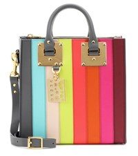 Sophie Hulme Albion Square Rainbow Leather Shoulder Bag Multicoloured