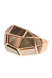 Vince Camuto Structured Shell Ring Pink