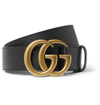 Gucci 4Cm Black Full Grain Leather Belt Black