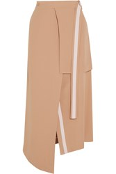 Richard Nicoll Layered Crepe Midi Skirt Pink