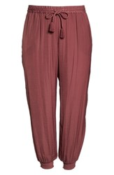 Vince Camuto Plus Size Hammered Smocked Cuff Jogger Pants Summer Rose