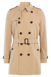 Burberry London Cotton Trench Jacket Beige