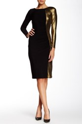 Anne Klein Metallic Jersey Dress Black