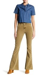 Current Elliott The High Rise Low Bell Flare Jean Beige