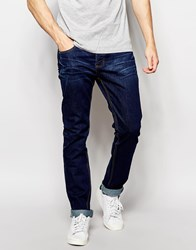 Bellfield Indigo Rinse Wash Tapered Slim Fit Jeans Blue