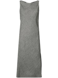 Narciso Rodriguez Side Slit Midi Dress Grey