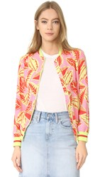 Boutique Moschino Printed Bomber Fantasy Print Pink
