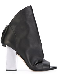 Marc Ellis Open Toe Boots Black