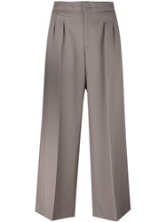 Maison Martin Margiela Cropped Tailored Trousers Nude And Neutrals