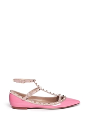 Valentino 'Rockstud' Patent Leather Caged Flats