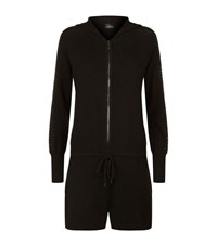 William Sharp Swarovski Cashmere Playsuit Female Black