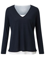 John Lewis Collection Weekend By Double Layer T Shirt Navy White