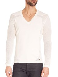 Versace Perforated V Neck Sweater