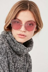 Urban Outfitters Paparazzi Cat Eye Sunglasses Gold