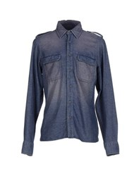 Robert Friedman Denim Denim Shirts Men Blue
