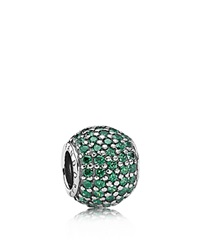 Pandora Design Pandora Charm Sterling Silver And Cubic Zirconia Dark Green Pave Lights Moments Collection Silver Dark Green