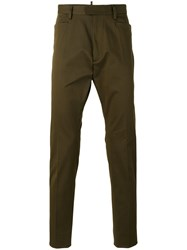 Dsquared2 Tailored Trousers Green