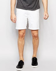 Only And Sons Denim Shorts In Slim Fit With Turn Up White