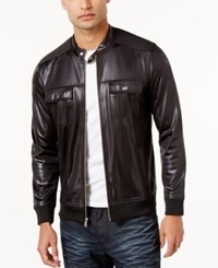 Inc International Concepts Men's Clark Bomber Jacket Only At Macy's Deep Black