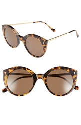 Women's Illesteva 'Palm Beach' 50Mm Round Sunglasses Tortoise