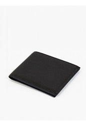 Jil Sander Black Grained Leather Card Wallet