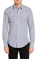 Hugo Men's Boss Robbie Extra Trim Fit Plaid Sport Shirt