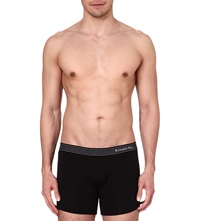 Zegna Elasticated Waistband Boxer Shorts Black