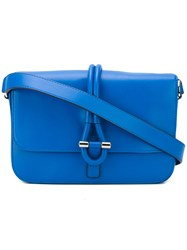 Tila March Romy Messenger Tote Women Leather One Size Blue