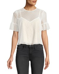 Likely Reena Lace Short Sleeve Top White