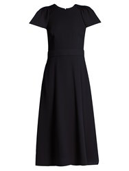 Goat Dionne Wool Crepe Dress Navy