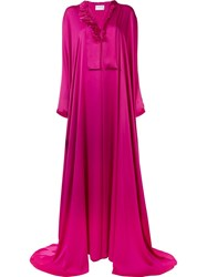 Maison Rabih Kayrouz Charmeuse Wrap Gown Pink And Purple