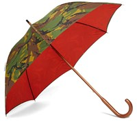 London Undercover Classic Solid Stick Umbrella Green