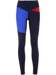 Lucas Hugh Colour Block Leggings Blue
