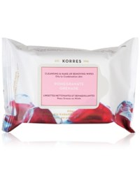 Korres Pomegranate Cleansing And Make Up Removing Wipes
