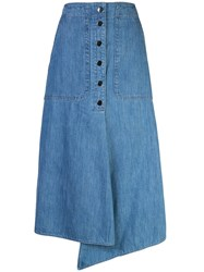 Tibi Stone Enzyme Denim Skirt 60
