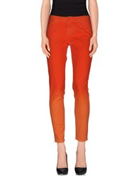 Guess By Marciano Denim Denim Trousers Women Orange