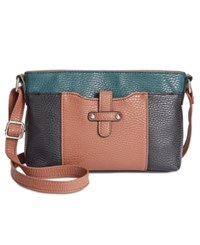 Styleandco. Style Co. Ronye Colorblock Crossbody Only At Macy's Black Luggage Storm