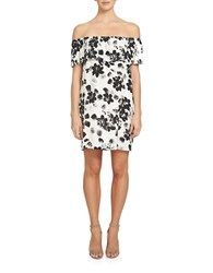 1.State Off The Shoulder Floral Popover Dress Ivory