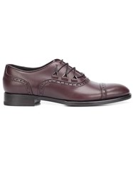 Louis Leeman Lace Up Effect Brogues Brown