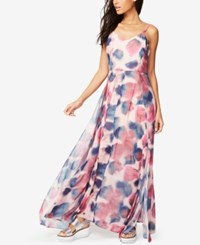 Rachel Roy Fit And Flare Maxi Dress Only At Macy's Rainbow Combo
