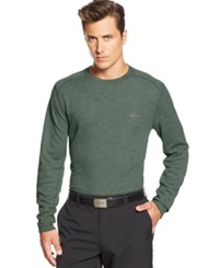 Greg Norman For Tasso Elba Big And Tall Solid Waffle Knit Performance Golf Shirt Climbing Ivy Heather