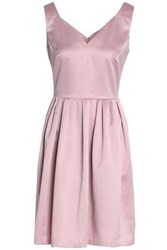Raoul Woman Pleated Satin Crepe Mini Dress Baby Pink