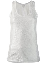 Majestic Filatures Metallized Tank Top Silver